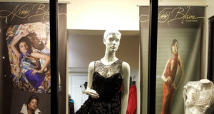 Nikki Blaine Couture Window in Zionsville