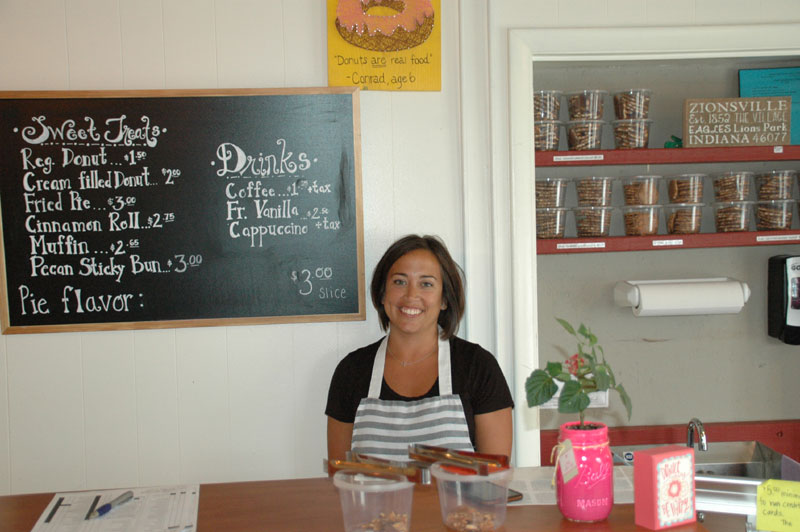Rachel Gallienne, proprietor of A Taste of Amish in downtown Zionsville