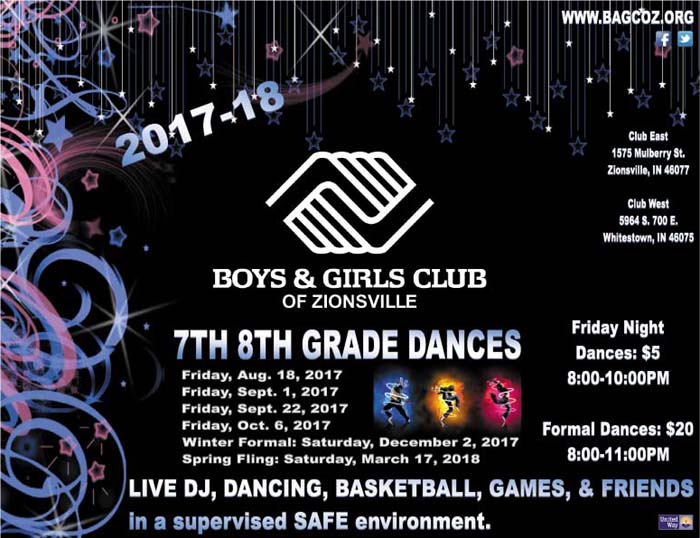 7th 8th Grade Dance at Boys & Girls Club of Zionsville