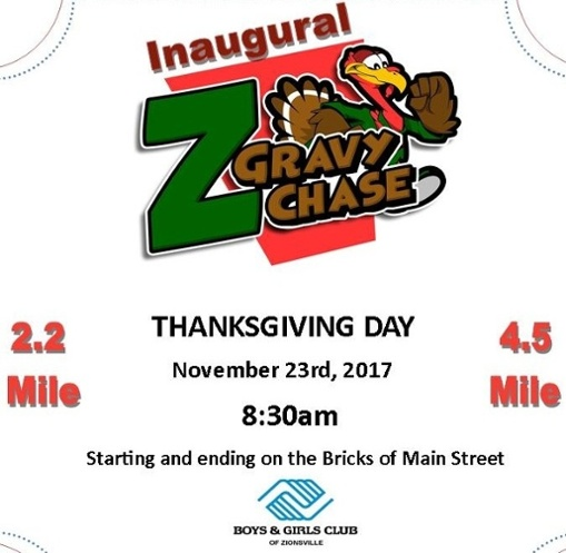 Inaugural Z' Gravy Chase Benefiting the Boys & Girls Club of Zionsville