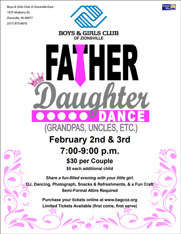 Father Daughter Dance at Boys & Girls Club of Zionsville
