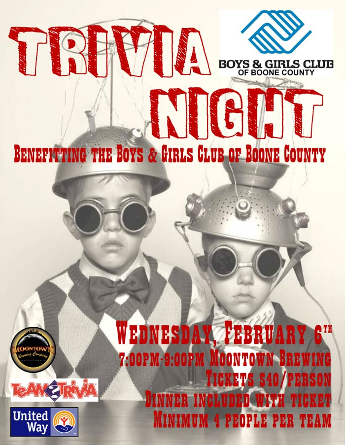 Trivia Night Benefiting the Boys and Girls Club of Boone County