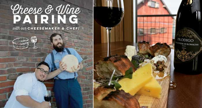 Cheese & Wine Pairing at The Loft Restaurant - Traders Point Creamery - Zionsville
