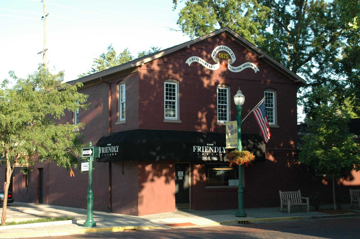 Zionsville Restaurants: The Friendly Tavern (opens in new window)