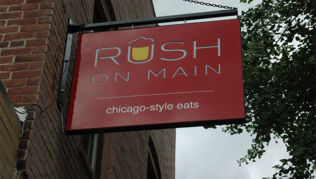 Rush on Main Sign