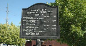 Main Street Zionsville Historical Marker