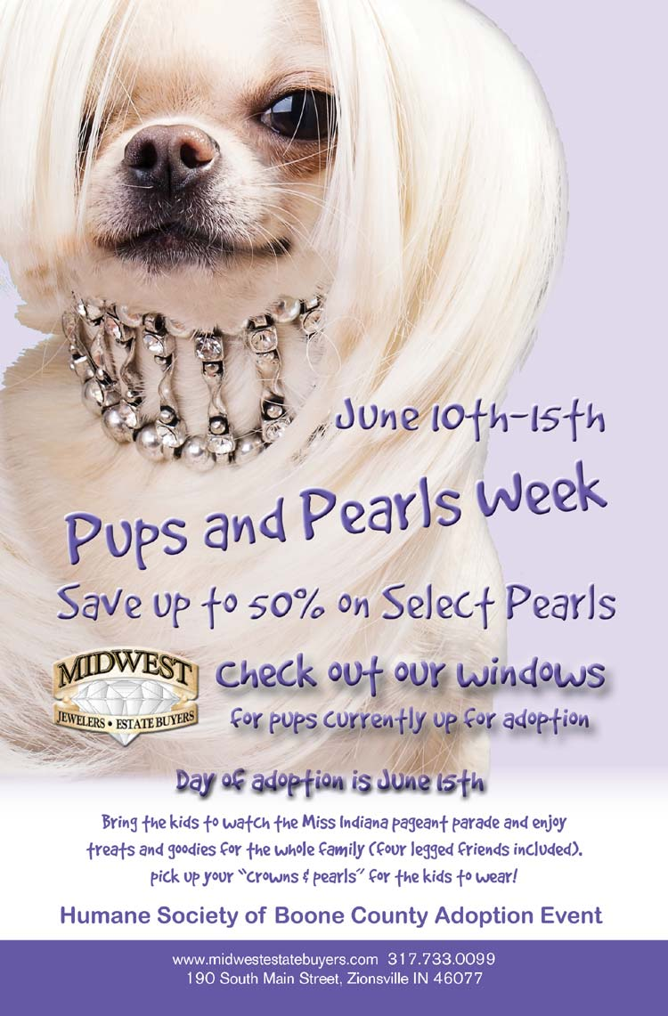 Pups & Pearls Event to Benefit Humane Society for Boone County