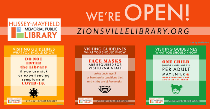 Zionsville Library is Open