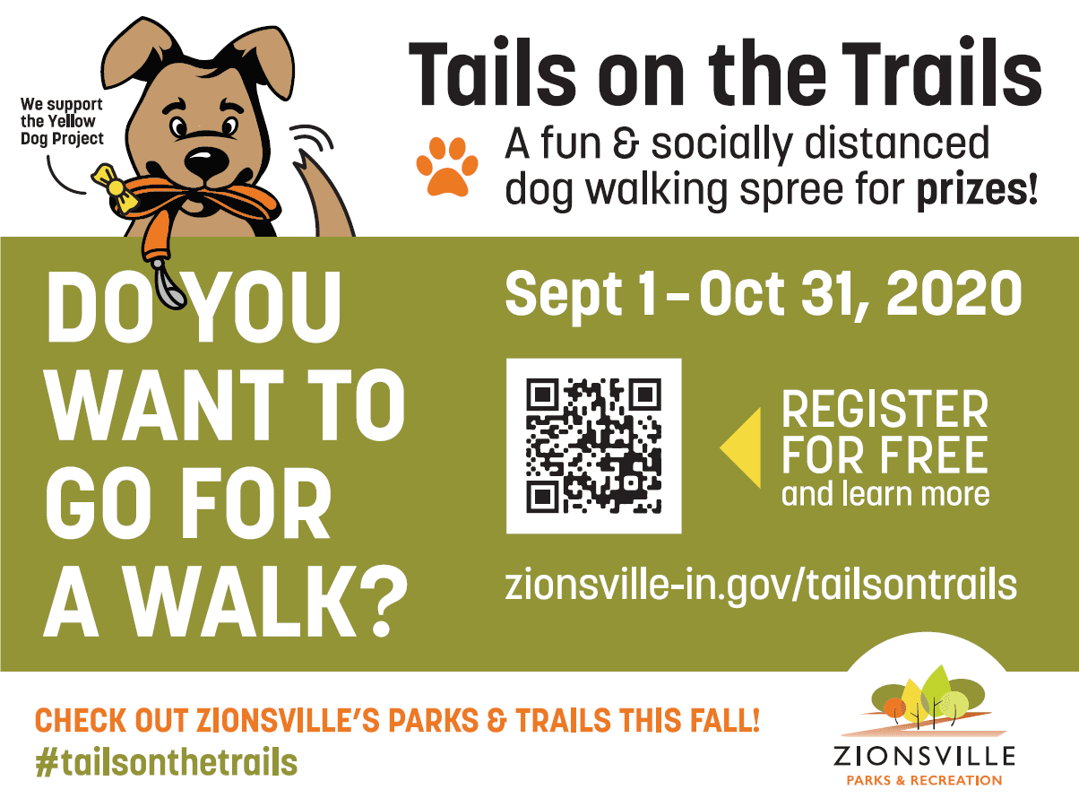 Tails on the Trails exploring Zionsville Parks